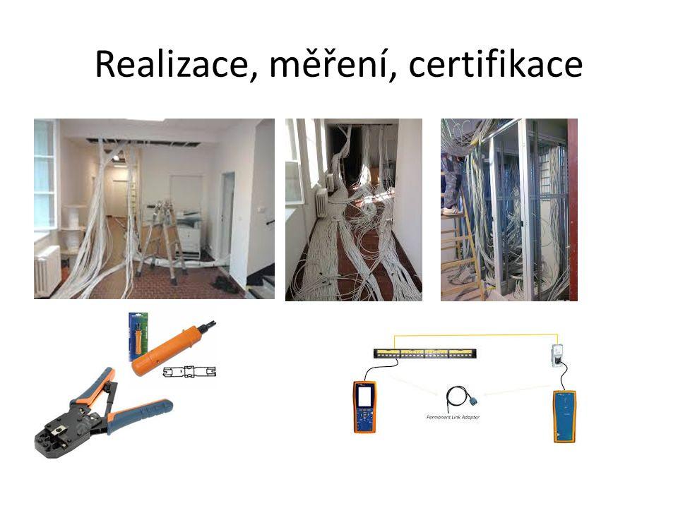 Realizace, měření, certifikace