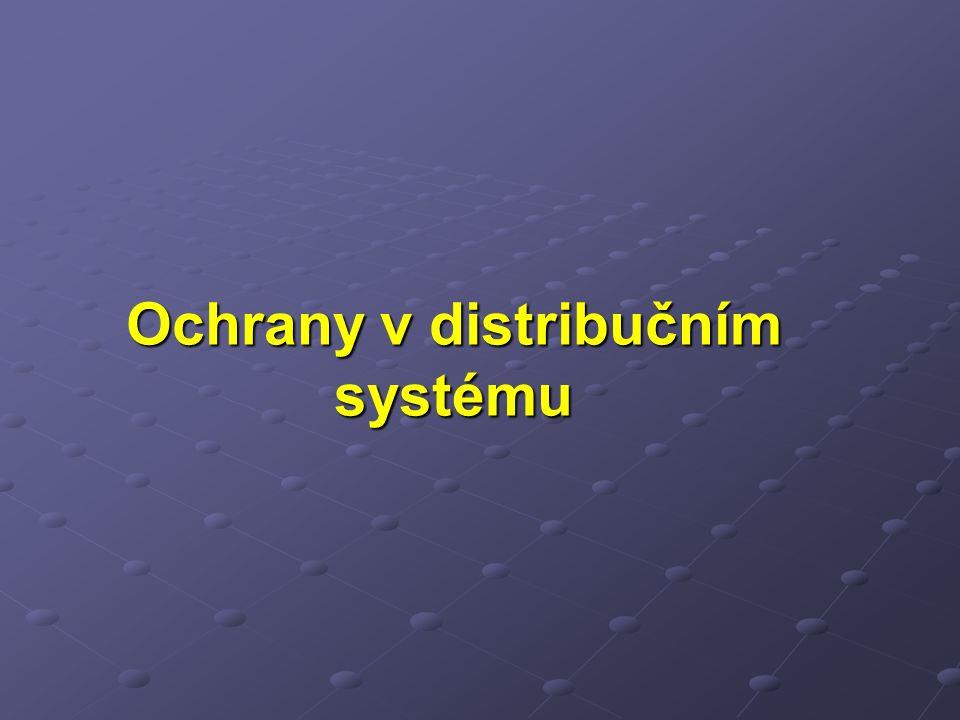 Ochrany v distribučním systému