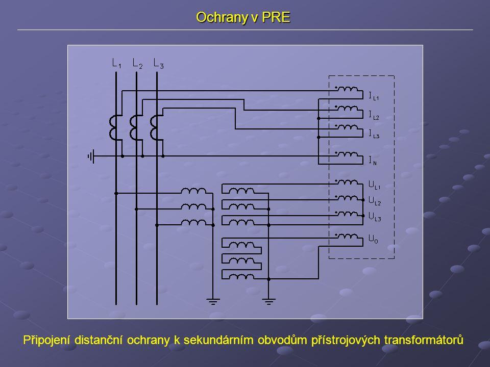 Připojení distanční ochrany k sekundárním obvodům přístrojových transformátorů