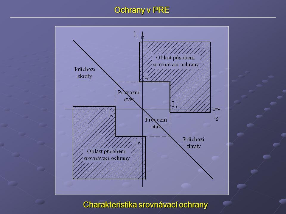 Ochrany v PRE Charakteristika srovnávací ochrany