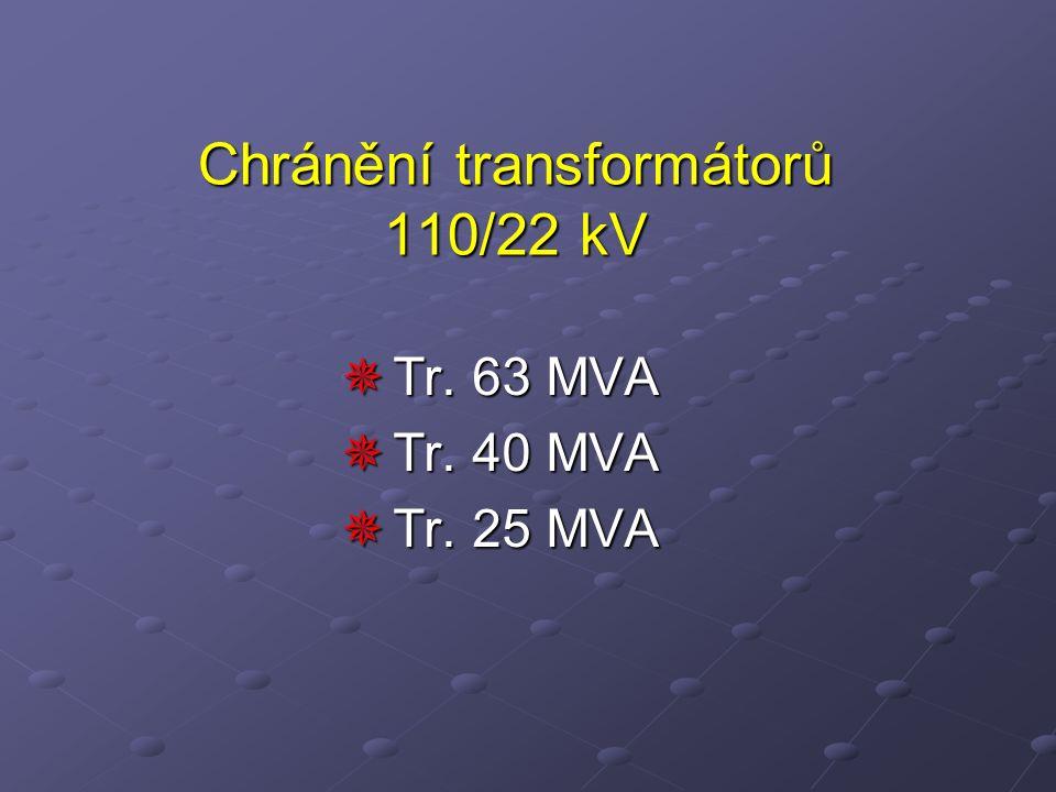  Tr. 63 MVA  Tr. 40 MVA  Tr. 25 MVA