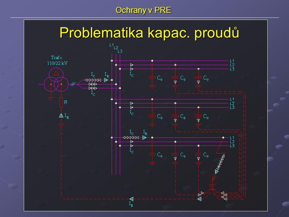 Ochrany v PRE Problematika kapac. proudů