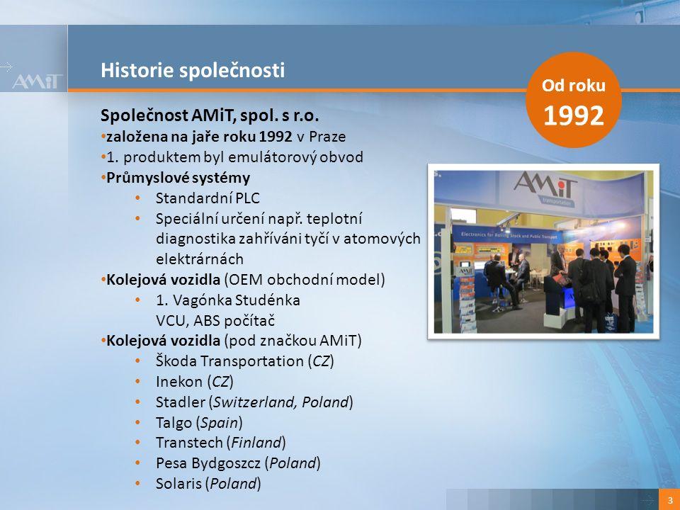 Historie společnosti 3 Od roku 1992 Společnost AMiT, spol.