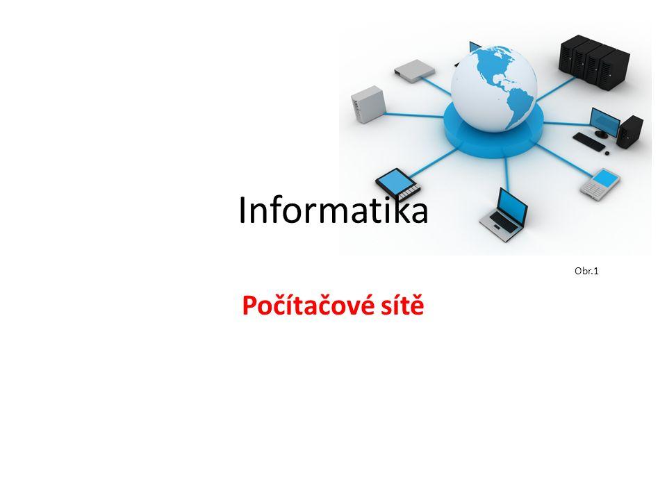Informatika Počítačové sítě Obr.1
