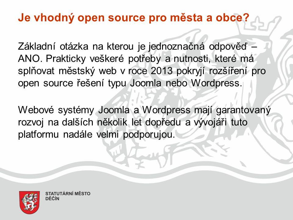Je vhodný open source pro města a obce. Základní otázka na kterou je jednoznačná odpověď – ANO.