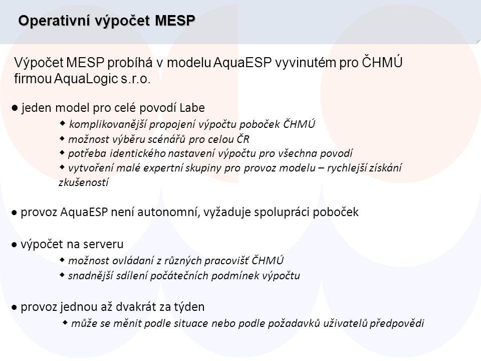 Předpověď MESP přítoku do nádrže Orlík hypoteticky vydaná 8.8.2002 AVG(Q) 90% > 250 m 3.s -1 V 90% > 648 mil.