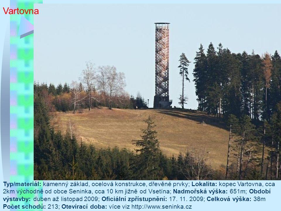 Varhošť Kóta: 639 m n.m.; Bývalý okres: Litoměřice; Kraj: Ústecký; Typ stavby: železná rozhledna Otevření: 22.09.1973; Přístup: Celoroční; Výška rozhledny: 15.0 m; Nejvyšší vyhlídková plošina ve výšce: 15.0 m; Počet vyhlídkových plošin: 4; Počet schodů: 68