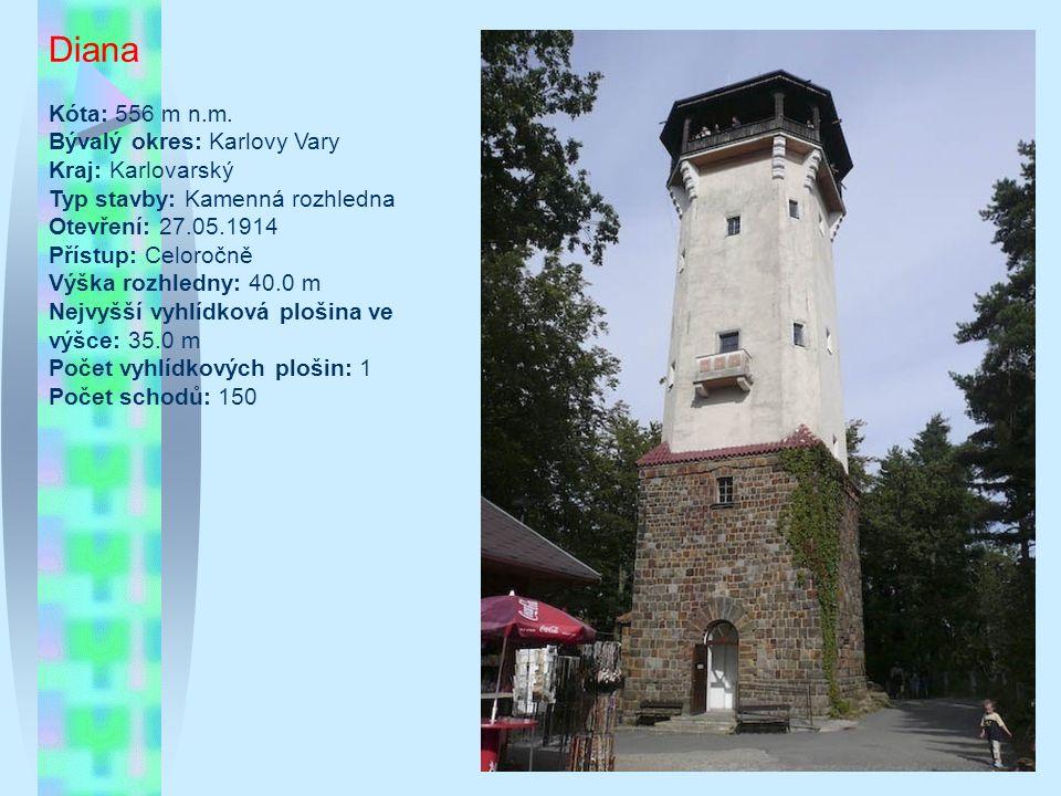 Prosečský hřeben Typ/materiál: kamenná rozhledna Lokalita: Prosečský hřeben mezi Libercem a Jabloncem nad Nisou, cca 4 km severozápadně od Jablonce nad Nisou (50°44 31.346 N, 15°7 47.131 E) Nadmořská výška: 586 m Okres: Jablonec nad Nisou Období výstavby: květen až srpen 1932 Oficiální zpřístupnění: 21.