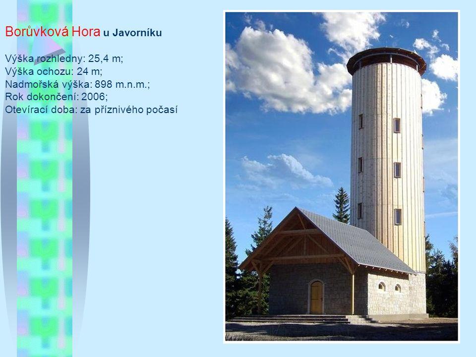 Čartak Typ/materiál: betonová věž obložená smrkovým dřevem (vysílač mobilního operátora) Lokalita: vrch Čartak u hraničního přechodu Bumbálka (Rožnov-Makov), asi 30 km východně od Vsetína (49°22 14.488 N, 18°16 52.445 E) Nadmořská výška: 953 m Okres: Vsetín Období výstavby: 1997 Oficiální zpřístupnění: 28.