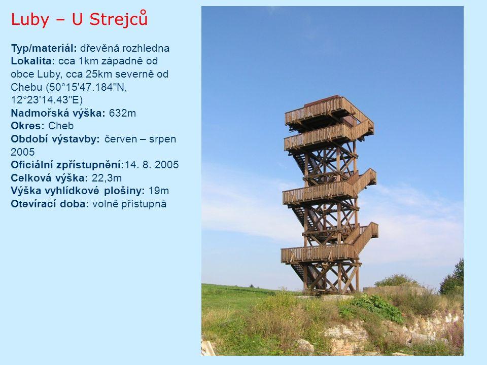 Královec Typ/materiál: dřevěná rozhledna Lokalita: vrch Královec, cca 1,5km východně od Valašských Klobouků, cca 40km jihovýchodně od Zlína GPS: 49°8 1.945 N, 18°2 18.281 E Nadmořská výška: 655m Okres: Zlín Období výstavby: léto 2006 Oficiální zpřístupnění: 7.