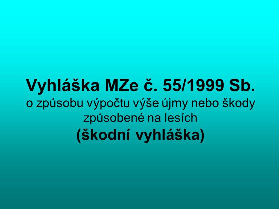 Vyhláška MZe č. 55/1999 Sb.