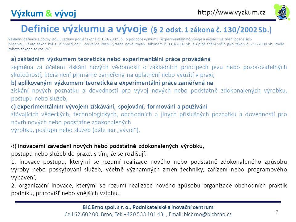 Výzkum & vývoj BIC Brno spol.s r.