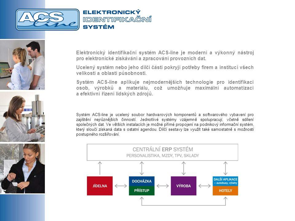 Elektronický identifikační systém ACS-line je moderní a výkonný nástroj pro elektronické získávání a zpracování provozních dat.