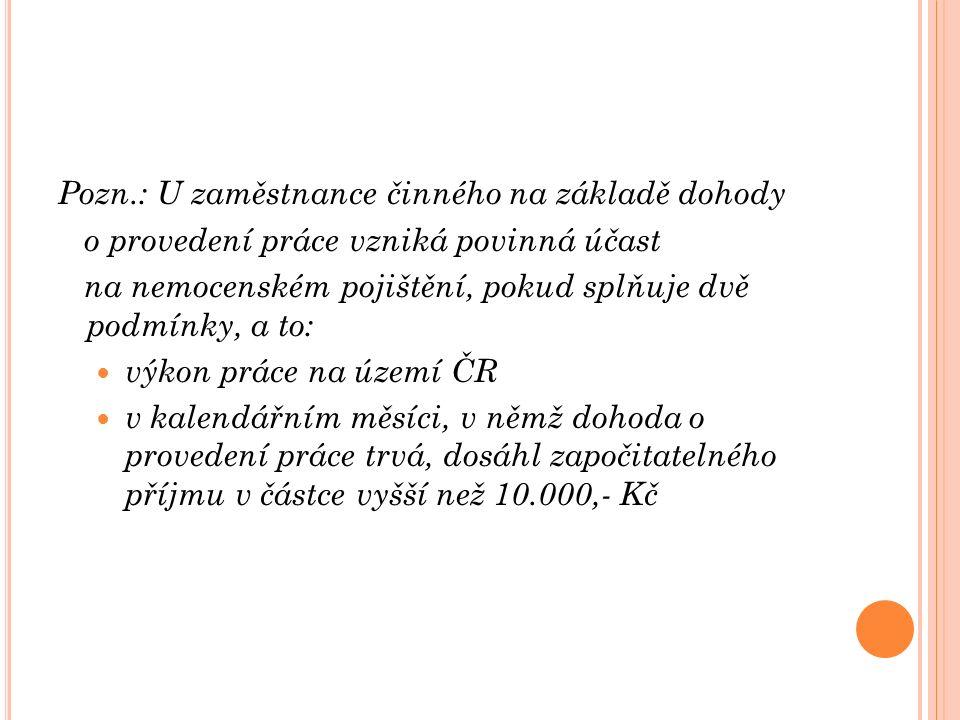 V YSTAVOVÁNÍ TISKOPISŮ Tiskopis Rozhodnutí o dočasné pracovní neschopnosti vystavuje ošetřující lékař.