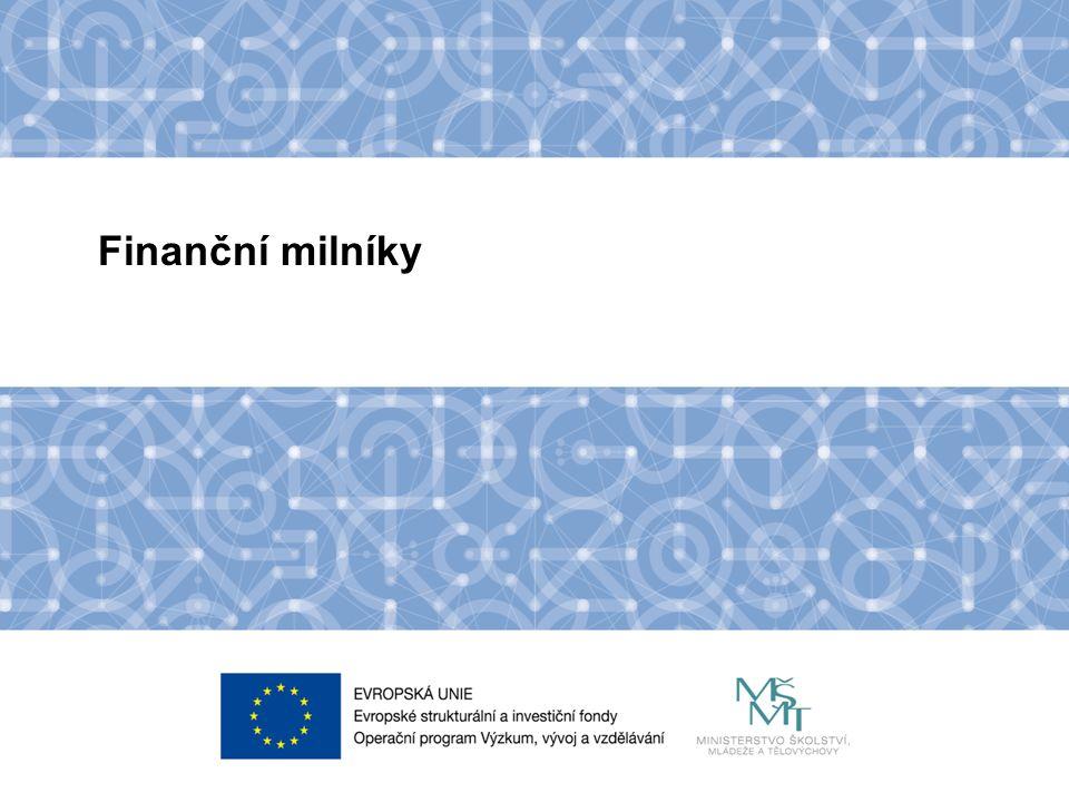 Název kapitoly Název podkapitoly Text Finanční milníky