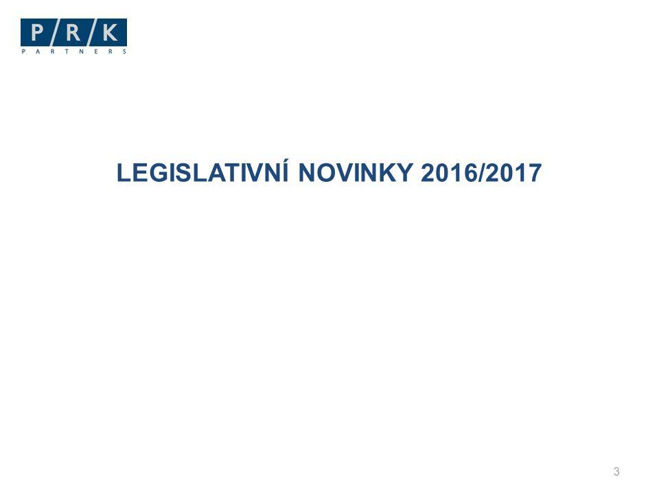 LEGISLATIVNÍ NOVINKY 2016/2017 3