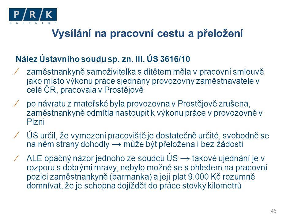 Nález Ústavního soudu sp. zn. III.
