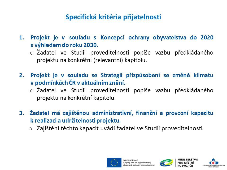 1.Projekt je v souladu s Koncepcí ochrany obyvatelstva do 2020 s výhledem do roku 2030.