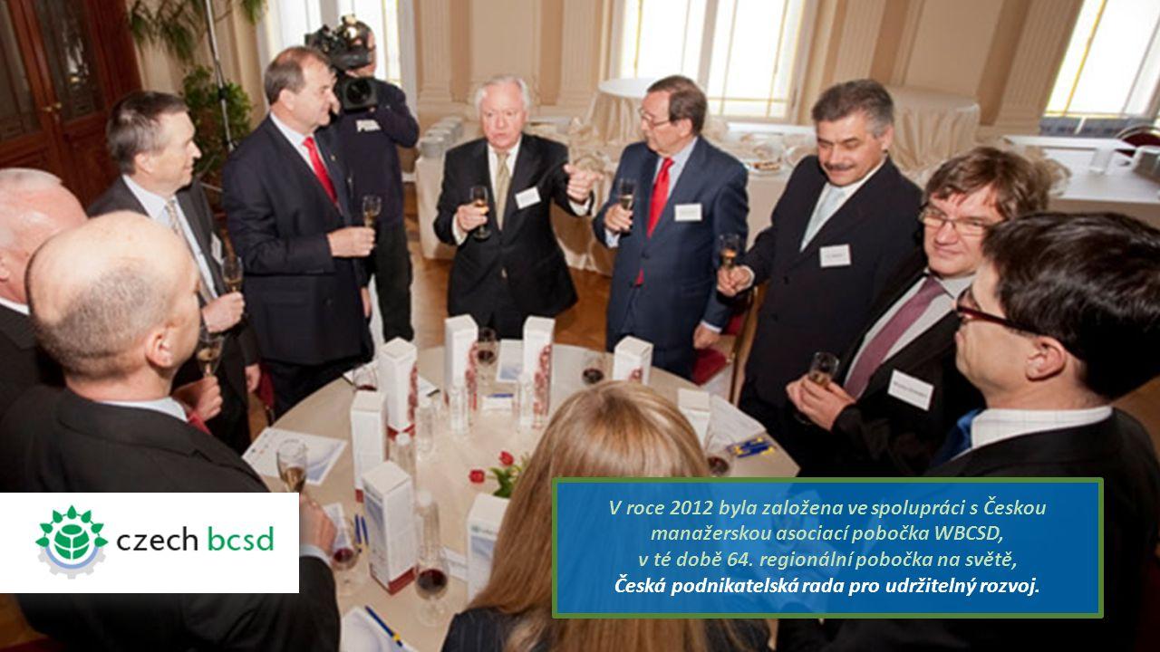V roce 2012 byla založena ve spolupráci s Českou manažerskou asociací pobočka WBCSD, v té době 64.