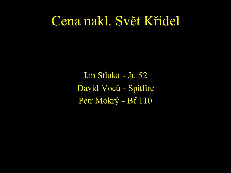 Jan Stluka - Ju 52 David Voců - Spitfire Petr Mokrý - Bf 110
