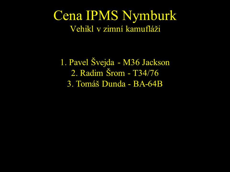1. Pavel Švejda - M36 Jackson 2. Radim Šrom - T34/76 3. Tomáš Dunda - BA-64B