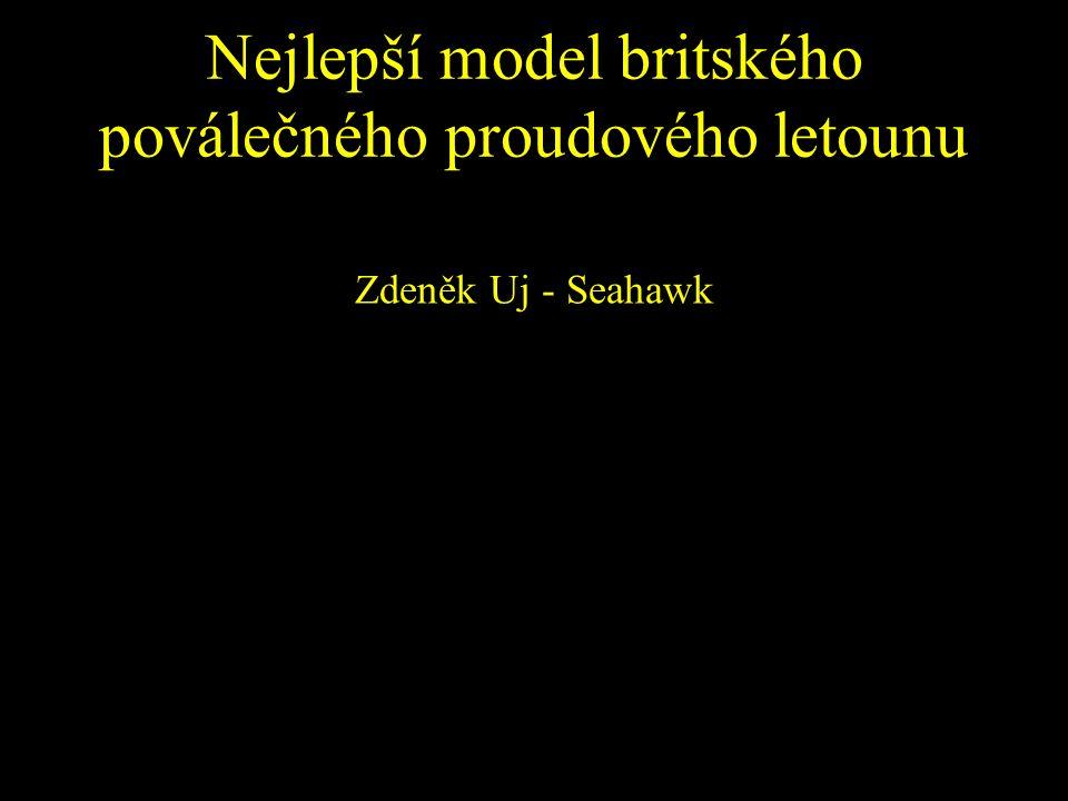 Nejlepší model britského poválečného proudového letounu Zdeněk Uj - Seahawk