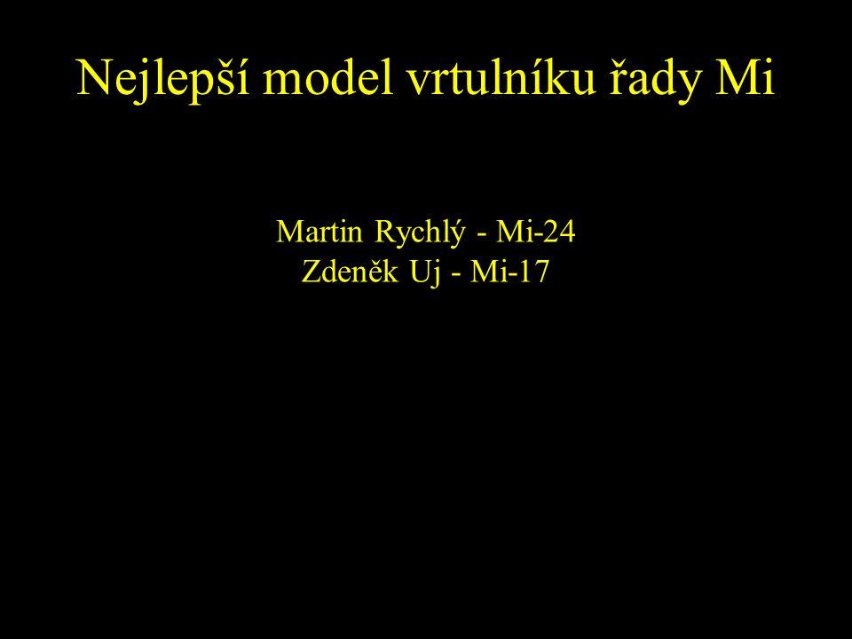 Nejlepší model vrtulníku řady Mi Martin Rychlý - Mi-24 Zdeněk Uj - Mi-17