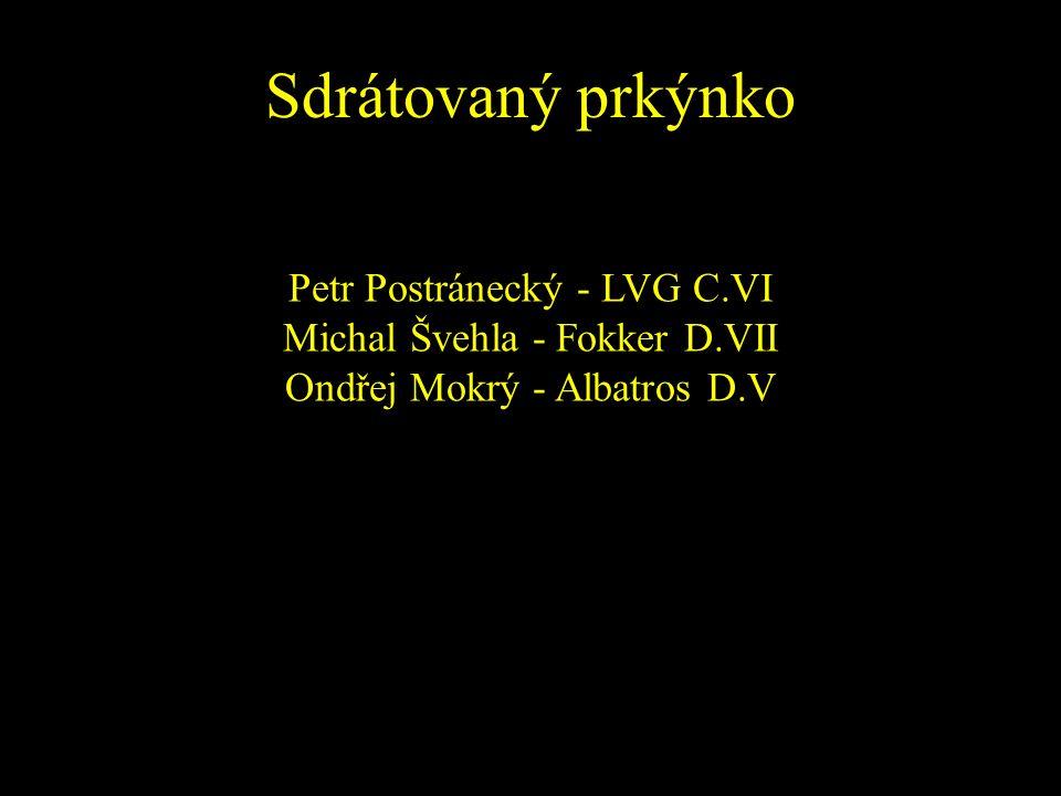 Sdrátovaný prkýnko Petr Postránecký - LVG C.VI Michal Švehla - Fokker D.VII Ondřej Mokrý - Albatros D.V