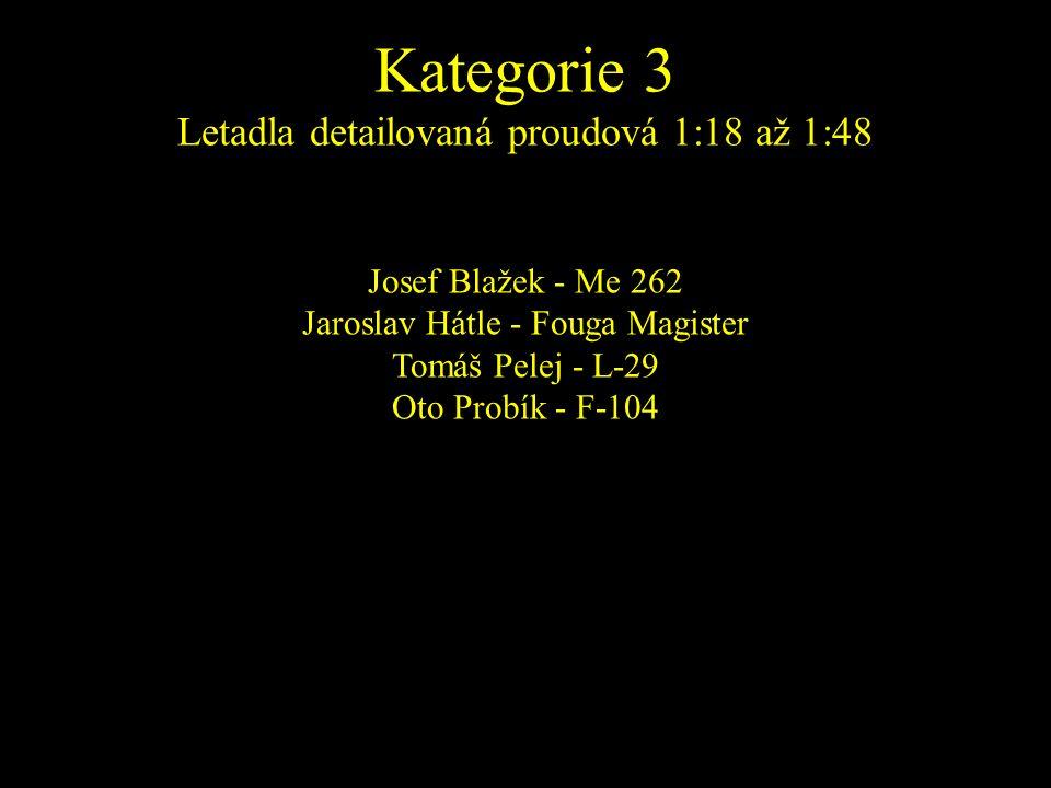 Josef Blažek - Me 262 Jaroslav Hátle - Fouga Magister Tomáš Pelej - L-29 Oto Probík - F-104