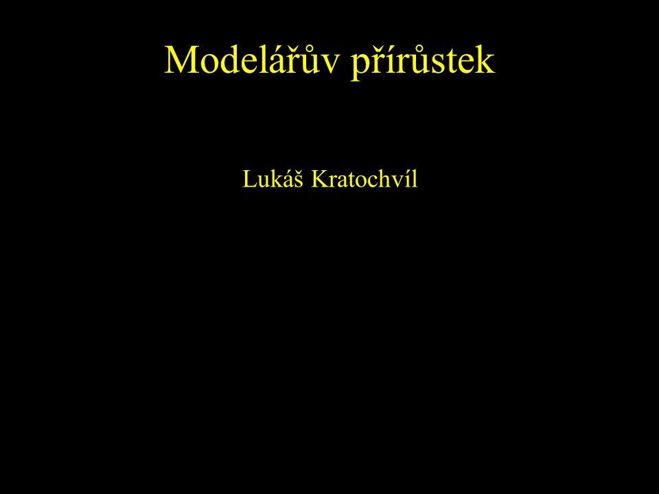 Modelářův přírůstek Lukáš Kratochvíl