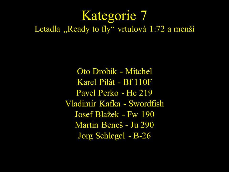 Oto Drobík - Mitchel Karel Pilát - Bf 110F Pavel Perko - He 219 Vladimír Kafka - Swordfish Josef Blažek - Fw 190 Martin Beneš - Ju 290 Jorg Schlegel -