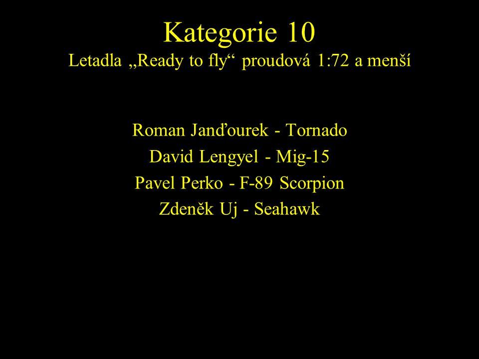 Roman Janďourek - Tornado David Lengyel - Mig-15 Pavel Perko - F-89 Scorpion Zdeněk Uj - Seahawk