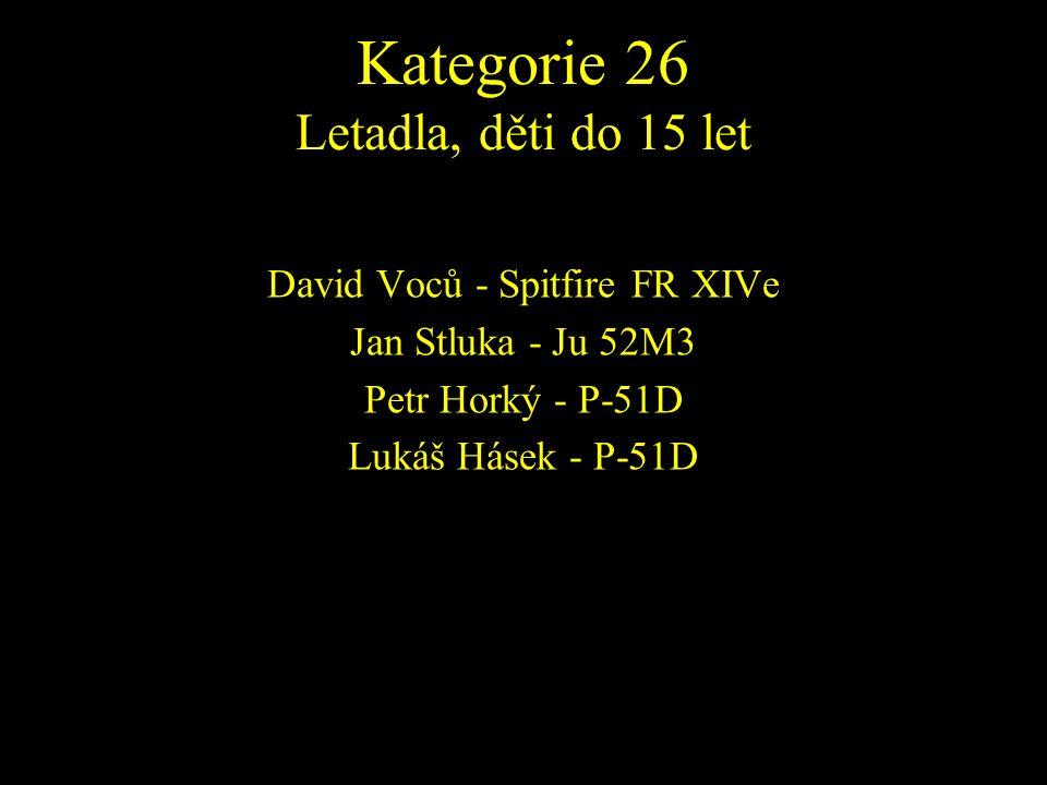 David Voců - Spitfire FR XIVe Jan Stluka - Ju 52M3 Petr Horký - P-51D Lukáš Hásek - P-51D