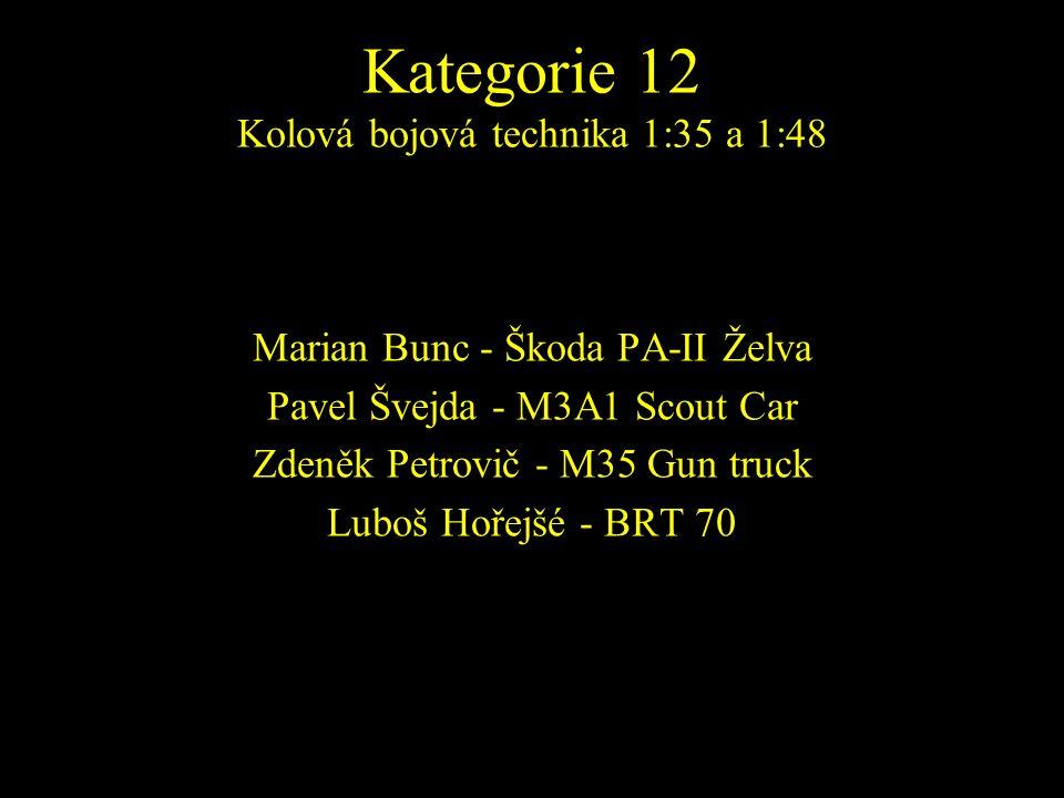 Marian Bunc - Škoda PA-II Želva Pavel Švejda - M3A1 Scout Car Zdeněk Petrovič - M35 Gun truck Luboš Hořejšé - BRT 70
