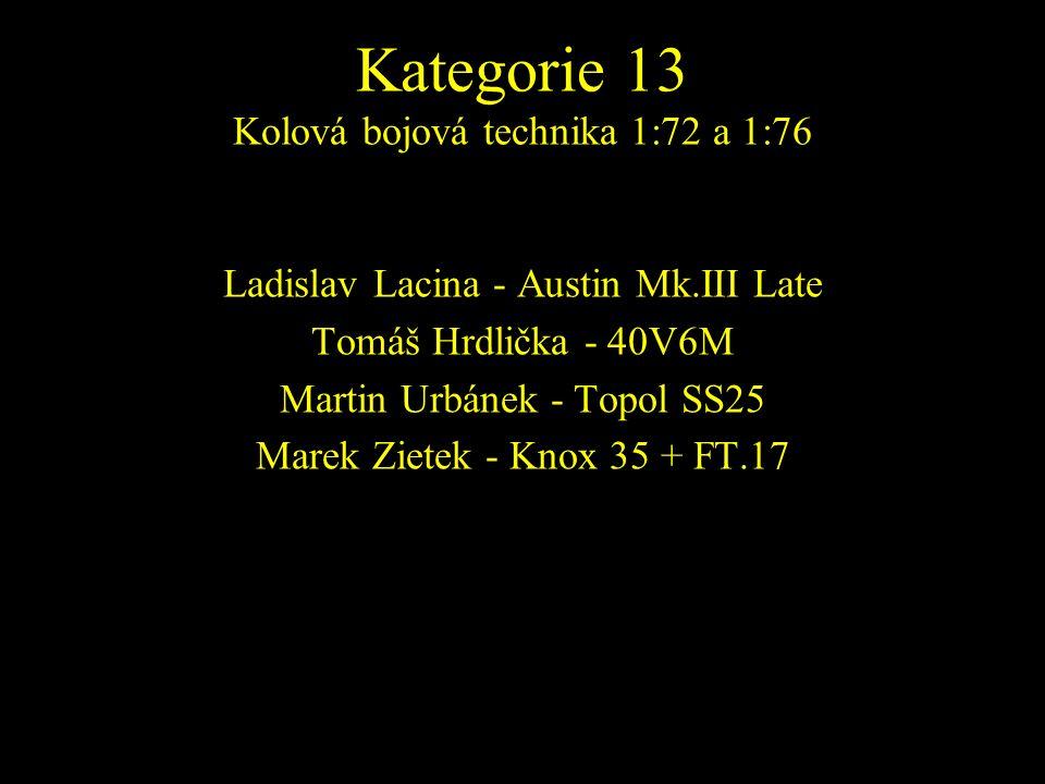 Ladislav Lacina - Austin Mk.III Late Tomáš Hrdlička - 40V6M Martin Urbánek - Topol SS25 Marek Zietek - Knox 35 + FT.17