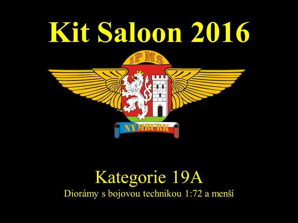 Kit Saloon 2016 Kategorie 19A Diorámy s bojovou technikou 1:72 a menší