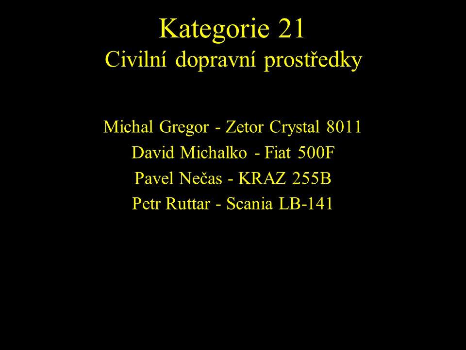 Michal Gregor - Zetor Crystal 8011 David Michalko - Fiat 500F Pavel Nečas - KRAZ 255B Petr Ruttar - Scania LB-141