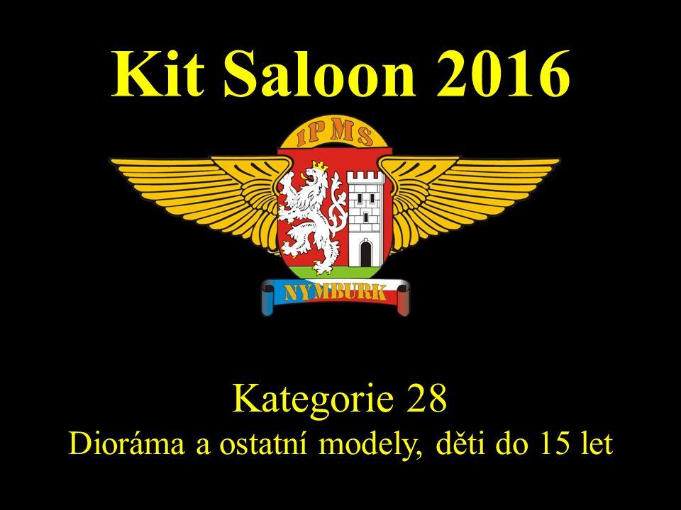 Kit Saloon 2016 Kategorie 28 Dioráma a ostatní modely, děti do 15 let