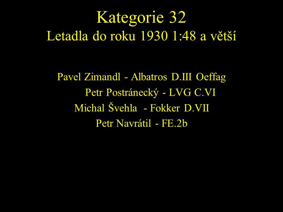 Pavel Zimandl - Albatros D.III Oeffag PetrPetr Postránecký - LVG C.VI Michal Švehla - Fokker D.VII Petr Navrátil - FE.2b