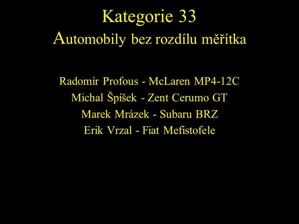 Radomír Profous - McLaren MP4-12C Michal Špíšek - Zent Cerumo GT Marek Mrázek - Subaru BRZ Erik Vrzal - Fiat Mefistofele