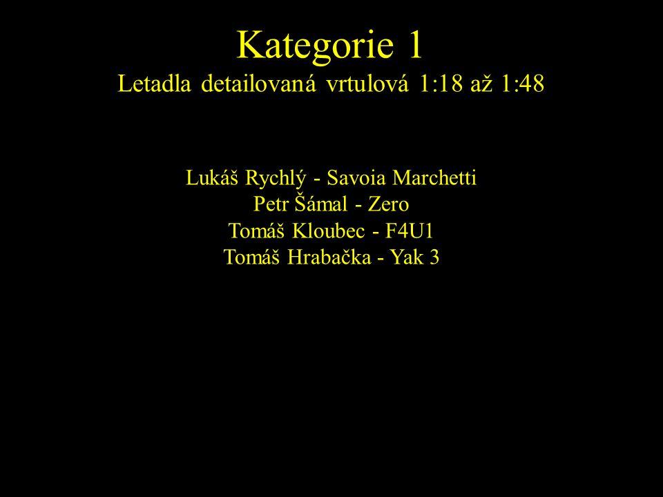 Lukáš Rychlý - Savoia Marchetti Petr Šámal - Zero Tomáš Kloubec - F4U1 Tomáš Hrabačka - Yak 3