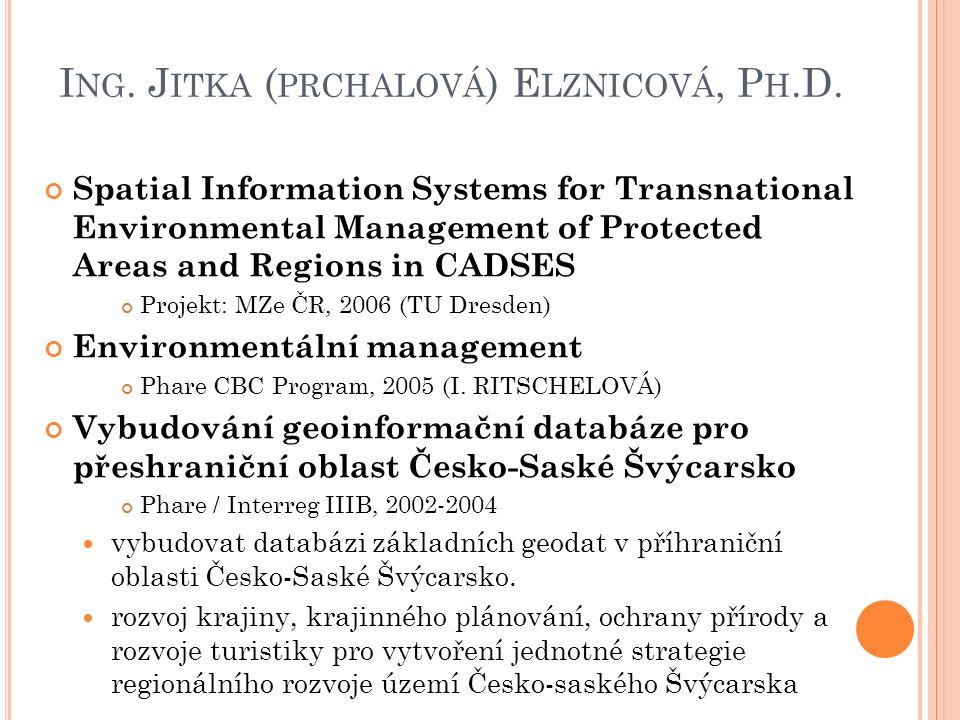 I NG. J ITKA ( PRCHALOVÁ ) E LZNICOVÁ, P H.D.