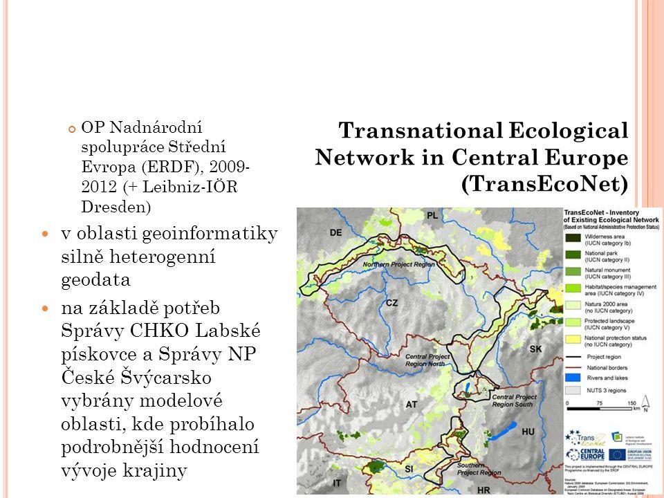 OP Nadnárodní spolupráce Střední Evropa (ERDF), 2009- 2012 (+ Leibniz-IÖR Dresden) v oblasti geoinformatiky silně heterogenní geodata na základě potře