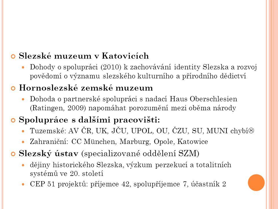 Slezské muzeum v Katovicích Dohody o spolupráci (2010) k zachovávání identity Slezska a rozvoj povědomí o významu slezského kulturního a přírodního dě