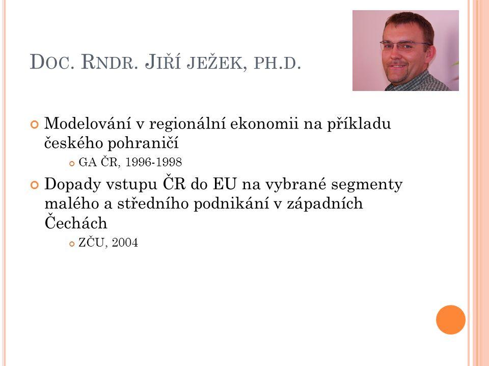 I NG.J ITKA ( PRCHALOVÁ ) E LZNICOVÁ, P H.D.
