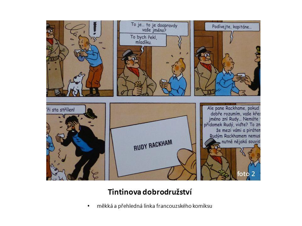 Tintinova dobrodružství měkká a přehledná linka francouzského komiksu foto 2