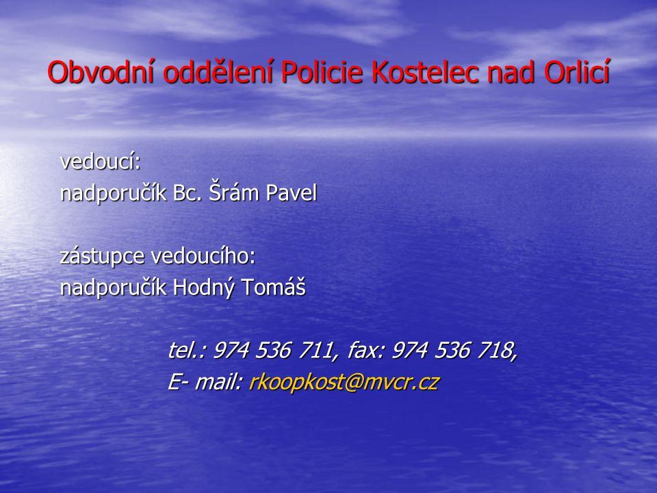 Kontaktní spojení PČR Rychnov nad Kněžnou DOPRAVNÍ INSPEKTORÁT Dopravní inspektorát Dopravní inspektorát vedoucí - nadporučík Ing.