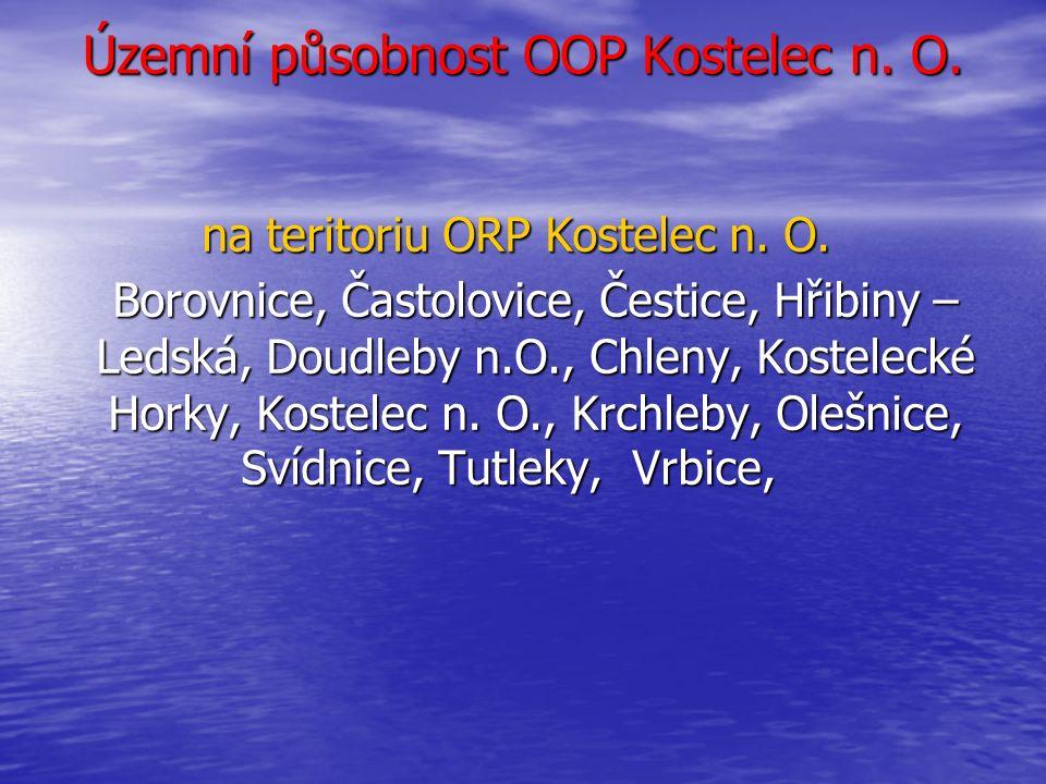 Územní působnost OOP Kostelec n. O. na teritoriu ORP Kostelec n. O.