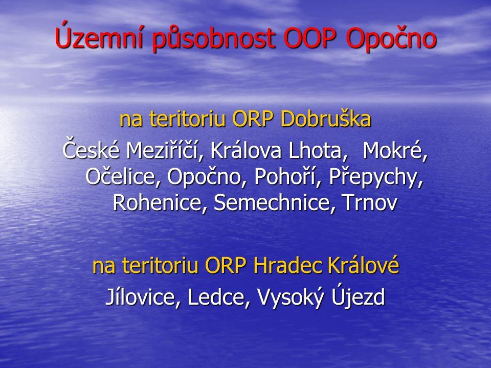 Územní působnost OOP Opočno na teritoriu ORP Dobruška