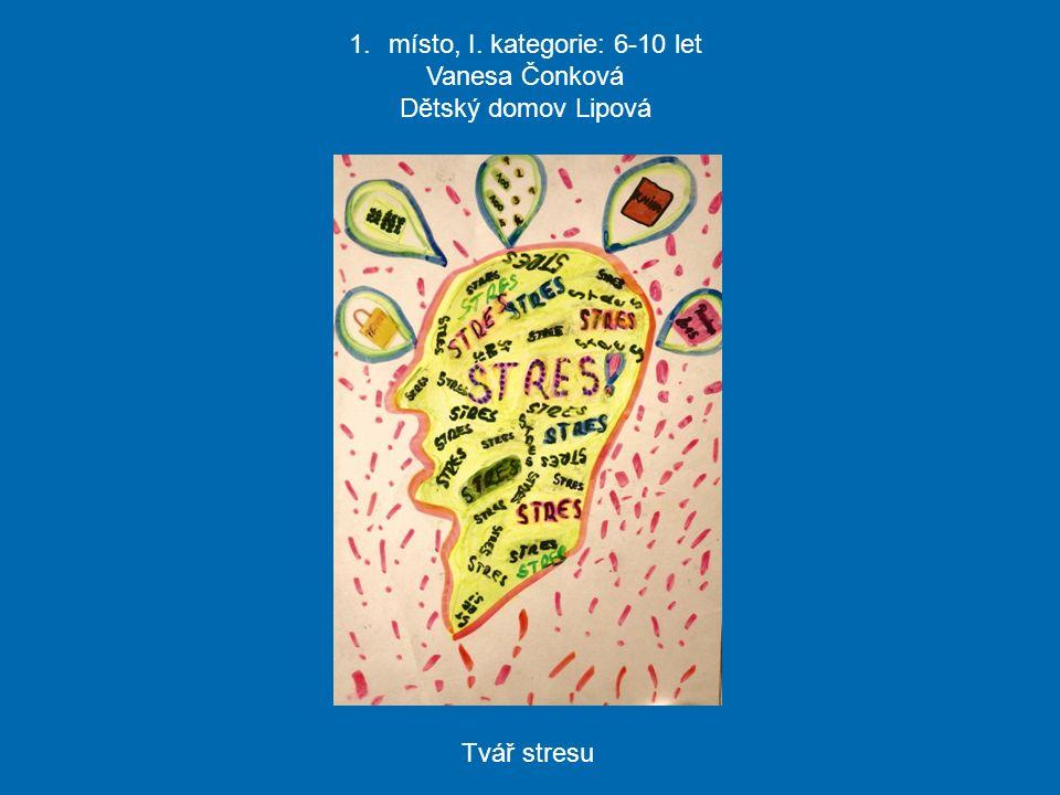 1.místo, I. kategorie: 6-10 let Vanesa Čonková Dětský domov Lipová Tvář stresu